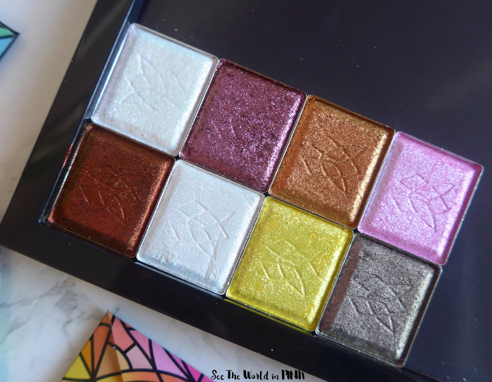 Clionadh Cosmetics Stained Glass Collection Eyeshadows - Swatches, Eye Swatches and Makeup Looks!