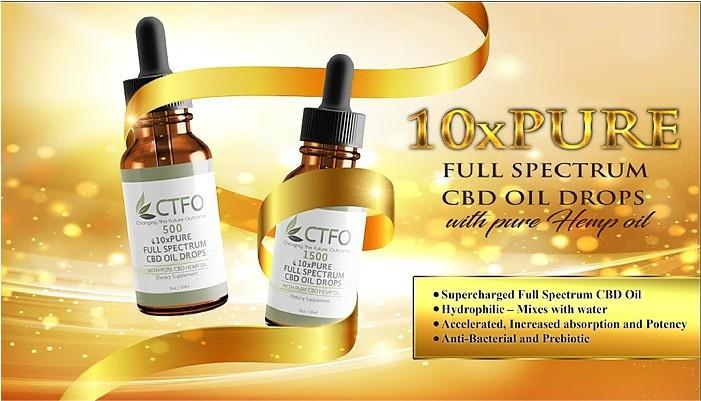 CTFO 10xPure CBD Hemp Oil - No THC 0.00%