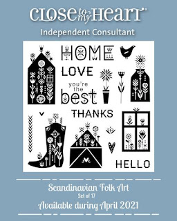 Scandinavian Folk Art stamp set