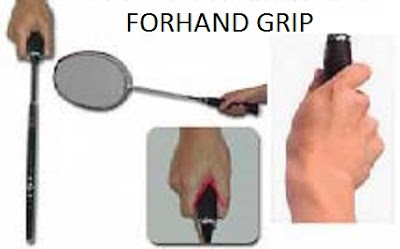 how to hold badminton racket forehand grip