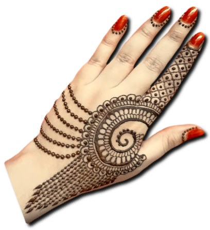 Side Hand Special Mehndi Design
