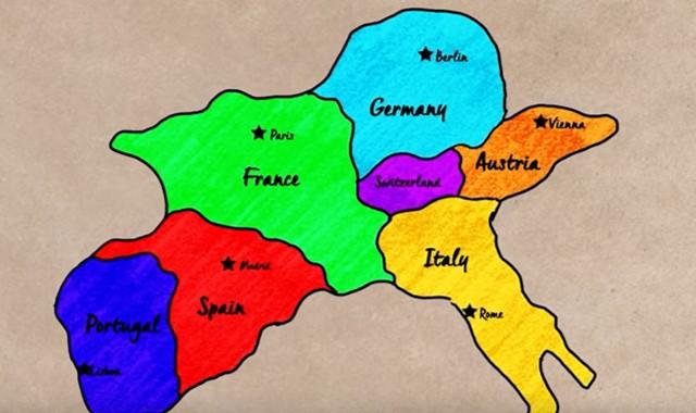 simbol warna di peta