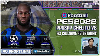 Download PES 2022 Inter Milan Edition PPSSPP English Commentary Best Graphics & New Update Transfer