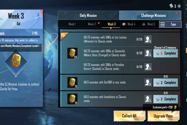 PUBG Mobile Season 15 Week 3 Challenging Mission Trick