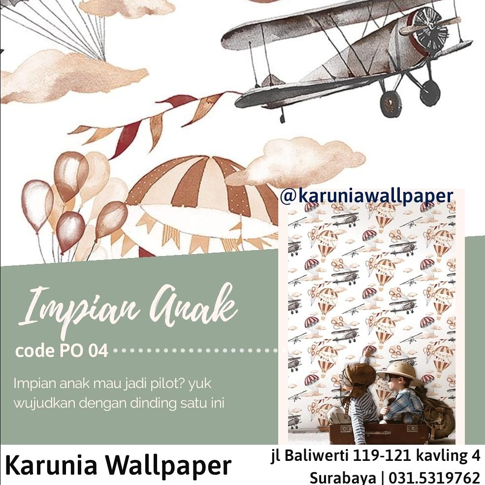 jual dinding wallpaper pesawat