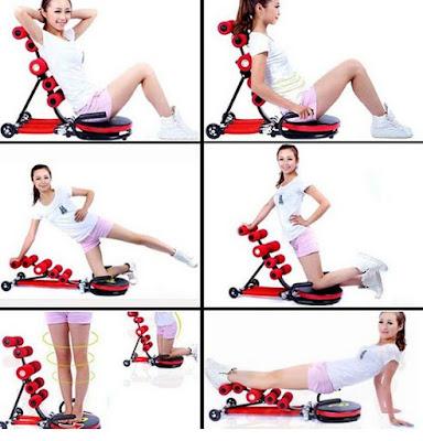 một số động tác tập với máy tập cơ bụng
