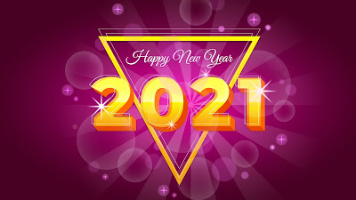 2021 Pink background Happy New Year