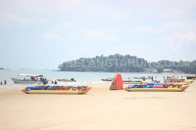 Pantai Port Dickson Teluk Kemang Banana Boat