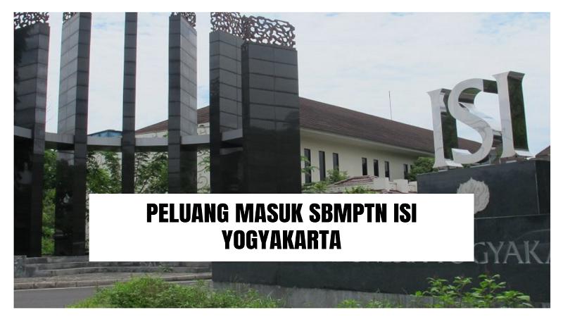 Peluang Masuk SBMPTN ISI Yogyakarta 2021