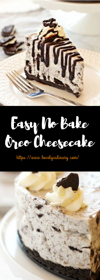 Easy No Bake Oreo Cheesecake #desserts #noBakerecipe