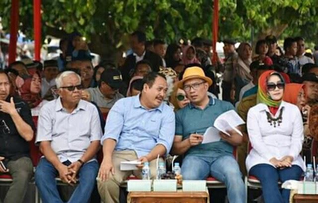 Gubernur Jabar Resmikan Plaza Air Mancur di Pantai Timur Pangandaran