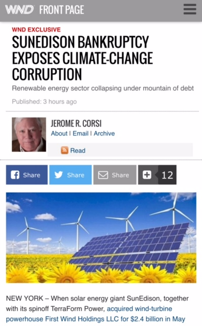 May 1, 2016: The Green Corruption Files at WND, Again