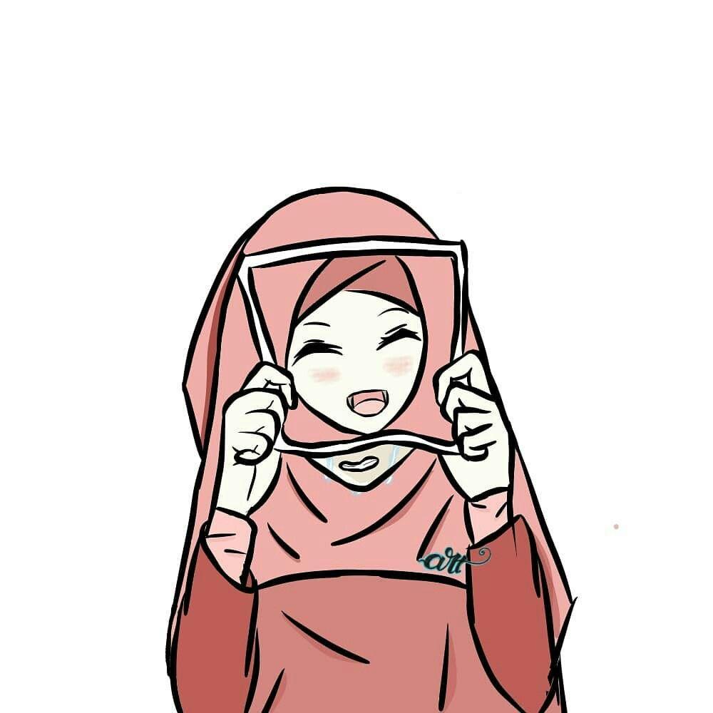Gambar Anime Hijab Sedih