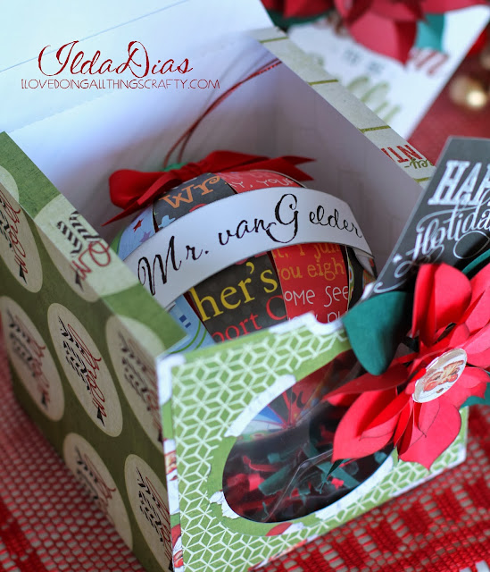 Personalized Paper Christmas Ball Ornaments for the Teachers | SVGCuts Files