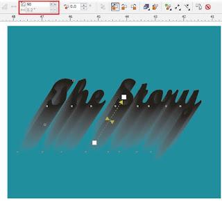 Membuat Efek Long Shadow pada Teks dengan Mudah di CorelDRAW
