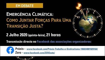 Amanhã, videoconferência Práxis/Zero: «Emergência Climática»