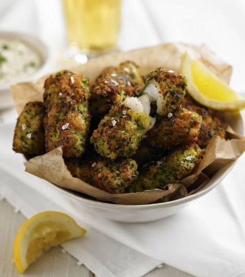 Classic Fish Goujons with Crispy Gremolata Crust
