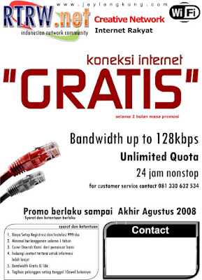 Contoh Brosur RT RW Net-2