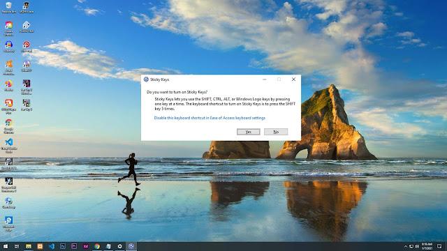 Cara Mematikan Sticky Keys di Windows
