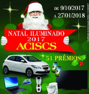 Promoção ACISCS São Caetano do Sul Natal 2017 Iluminado Carro Zero Prêmios