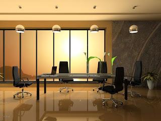 مكتب مدير شركة للاجتماعات