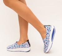 pantofi casual femei cu talpa ortopedica albastri