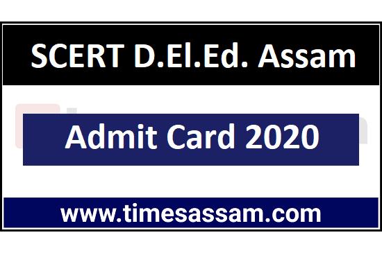 SCERT D.El.Ed. PET Admit Card 2020