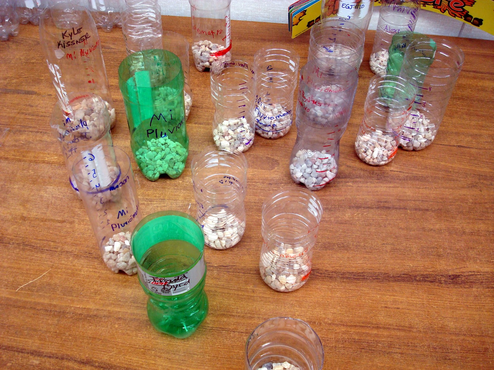 The Green Classroom Soda Bottle Rain Gauges Catchers