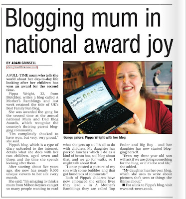 A Mothers Ramblings Top Mummy Blogger in the Paper