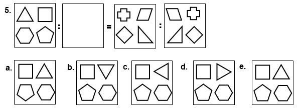 contoh soal 5 kemampuan figural analogi