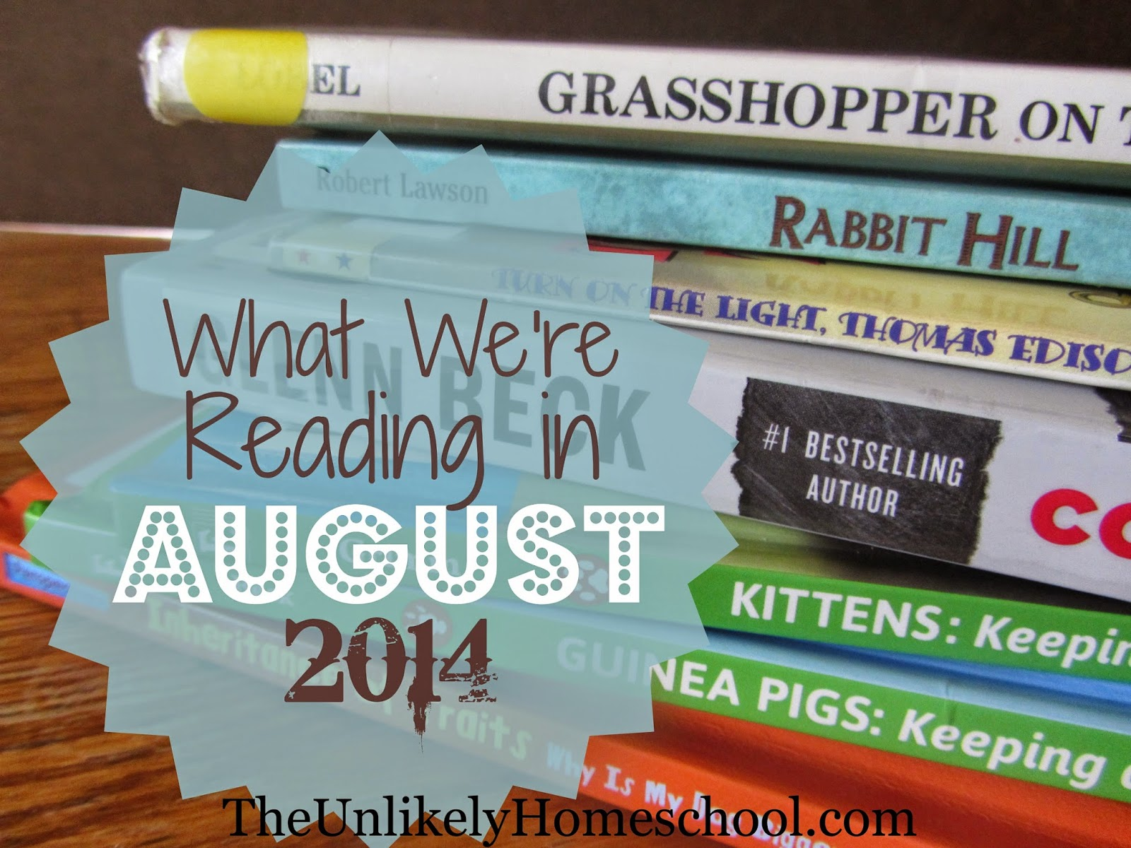What We're Reading in August 2014 {The Unlikely Homeschool}