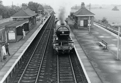 The Flying Scotsman steaming north through Brookmans Park -  31 August 1969  Image by Ron Kingdon, part of the Images of North Mymms collection