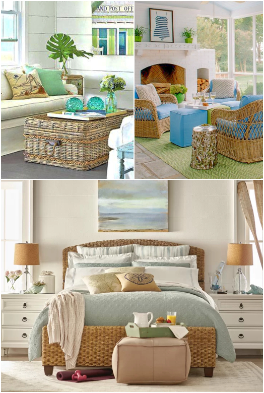 Wicker Rattan Furniture Decor Coastal Living Interior Design Ideas