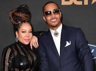 Messiah Harris' father T.I. with his wife Tameka Cottle