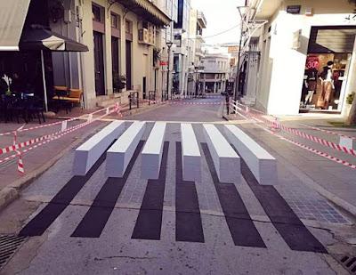 Αποτέλεσμα εικόνας για Η πρώτη τρισδιάστατη διάβαση  πεζών στην οδό Σπυρίδωνος  στην πόλη της Λιβαδειάς