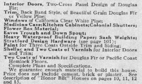 catalog page descriptions Sears Lorain 1929 Sears Modern Homes catalog
