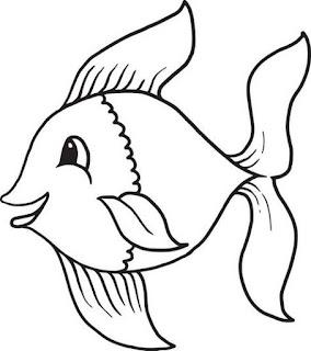 رسومات للاطفال سمكة جميلة للرسم والتلوين