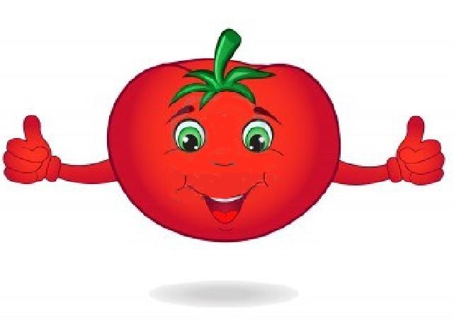 Смешные, открытка томат