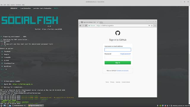 SocialFish - Ferramenta de phishing definitiva com Ngrok integrada