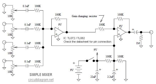 simple mixer the circuit. Black Bedroom Furniture Sets. Home Design Ideas
