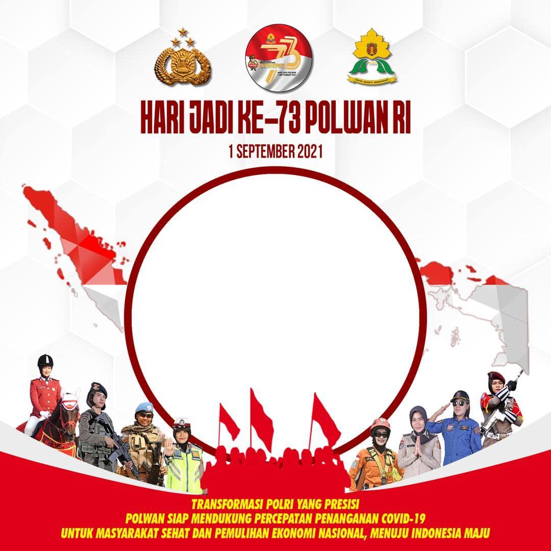 Link Download Frame Bingkai Foto Twibbon Selamat Hari Jadi ke-73 Polwan RI Tahun 2021 - Twibbonize
