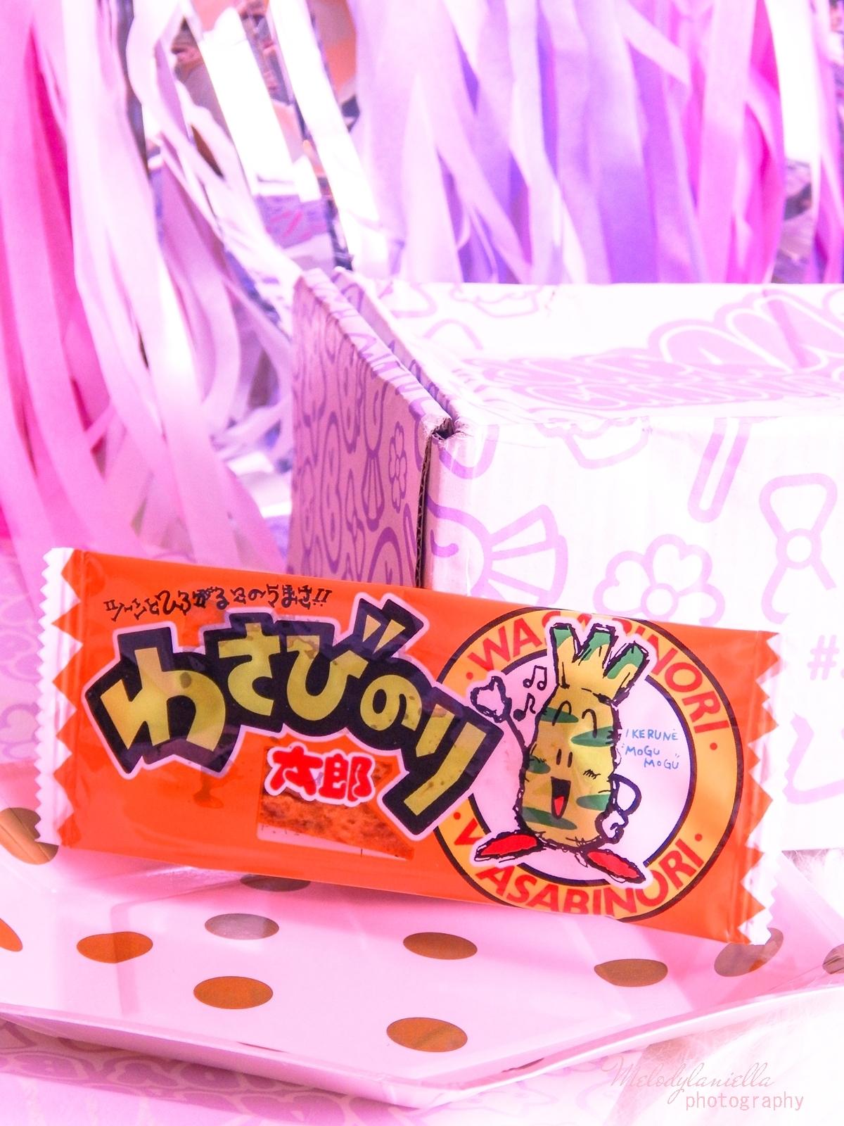 8 melodylaniella photography partybox japan candy box pudełko pełne słodkości z japonii azjatyckie słodycze ciekawe jedzenie z japonii cukierki z azji boxy z jedzeniem yaokin wasabi paste taro snack
