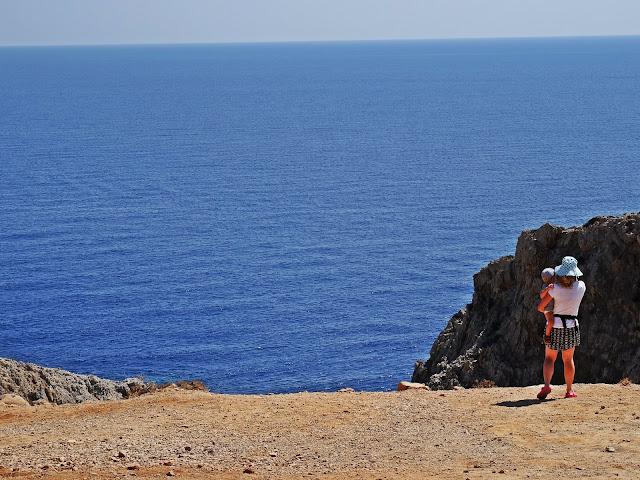 Widok na Setian Limania na Krecie, widok z góry na zatokę