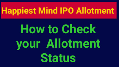 Happiest Minds IPO Allotment Status