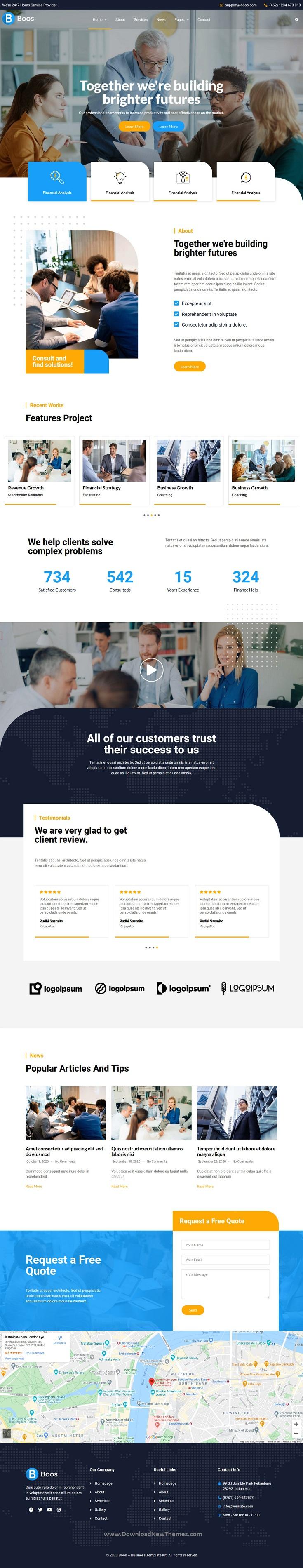 Business Elementor Template Kit