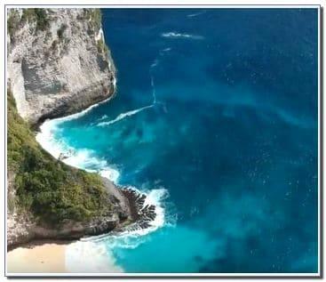 Kelingking Beach in Bali