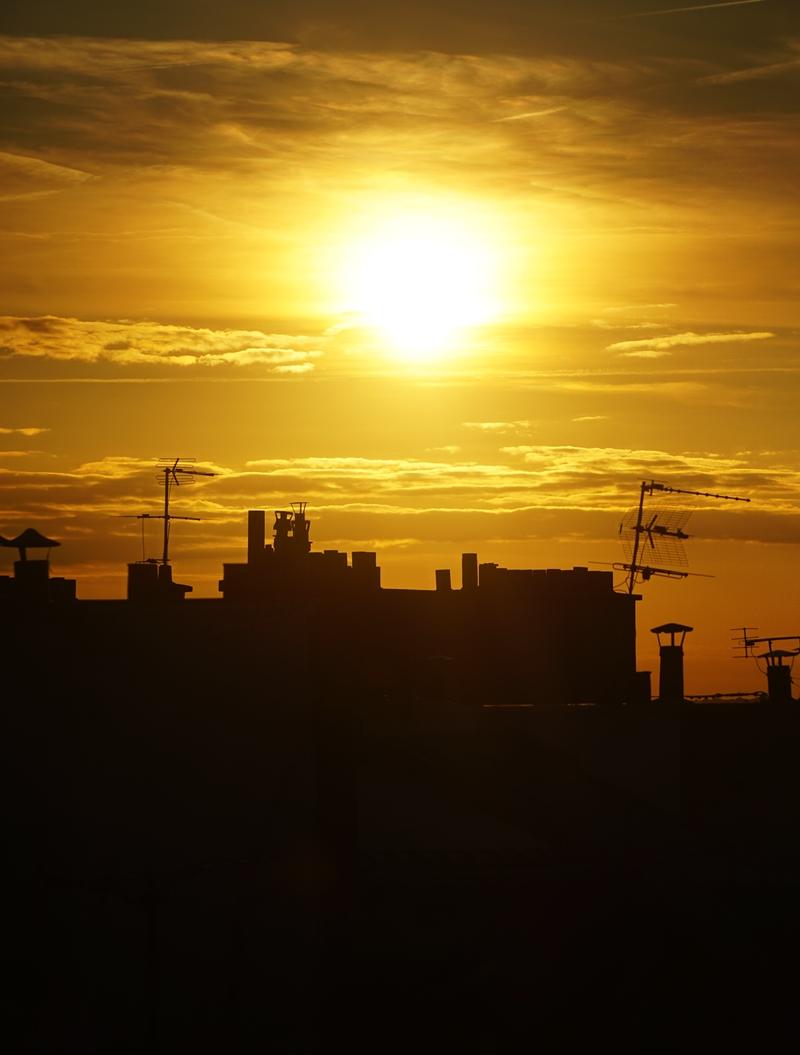 auringonlasku, pariisi, pariisin katot