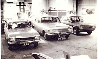 Ford cars in the Cyril J Deal showroom