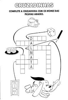 Atividade com cruzadinha alfabetização