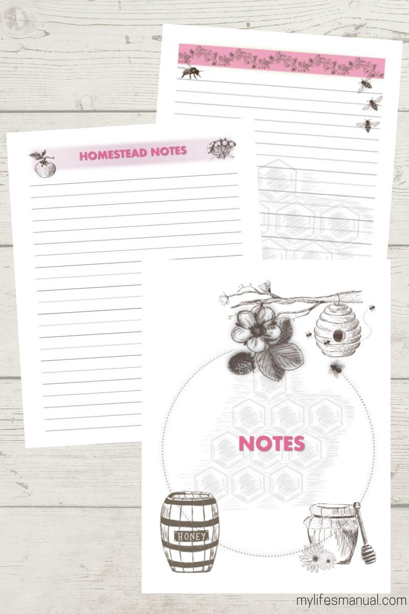 HOMESTEAD NOTES